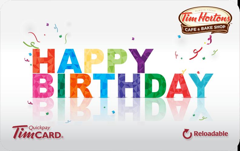 E Gift Tim Cards Tim Cards Tim Hortons Usa Inc